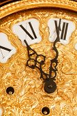 stock photo of tick tock  - gold clock - JPG