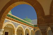 Green dome and arches