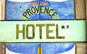 Provence Hotel Sign