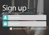 Sign Up Account Password Username Concept poster