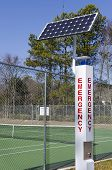 Solar powered emergency call station