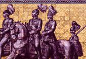 King John, Albert & Georg on Fürstenzug