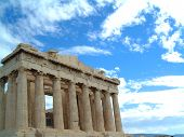 stock photo of akropolis  - The Parthenon in acropolis in Athens greece - JPG