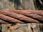 Old, Rusty Rope (cable) poster