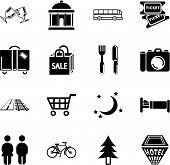 Tourist Locations Icon Set.