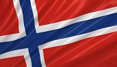 Flag of Norway. Flag series.