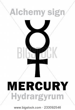 Alchemy Alphabet Mercury hydrargyrum Argentum