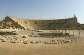 Remains Of The Ancient Roman Theater In Caesarea, Israelcaesarea, Israel poster