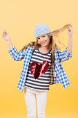 Valentines Day, Holiday Celebration. Little Girl Smile With Red Heart On Tshirt, Fashion. Happy Chil poster