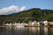 Town Zell At The Mosel River