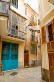 Palma de Mallorca old city Barrio Calatrava street in Balearic islands