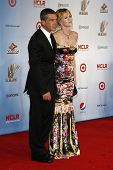 LOS ANGELES - SEP 10:  Melanie Griffith; Antonio Banderas arriving at the 2011 NCLR ALMA Awards held