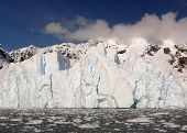 Glacial Wall In Antarctica