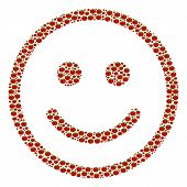 Glad Smiley Composition Of Tomato Vegetables. Vector Tomato Vegetable Elements Are United Into Glad  poster