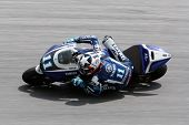 SEPANG, MALAYSIA - FEBRUARY 23: MotoGP rider Ben Spies of Yamaha Factory Racing Team practices at th