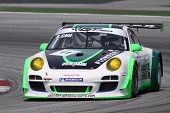 SEPANG - JUNE 17: Sasha Chu (11) of the Asia Racing Team in a Porsche takes to the tracks of the Sep