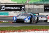 SEPANG, MALAYSIA - JUNE 18: The Nissan GTR car of Kondo Racing team puts in some practice laps in th