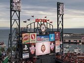Roberto Clemente Award 2010 Displayed On Scoreboard