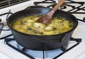 Potato Soup on Stove
