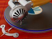 Ancient Antiquarian Gramophone