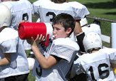 Thirsty Football Player