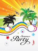 Abstrakt Sommer-Party-Thema