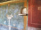 Beautiful Mural On Pompei Wall