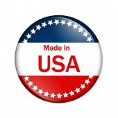 Made In The Usa Button