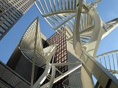 Stephen Ave Stahl Bäume Calgary