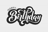 Happy Birthday Typographic Vector Design For Greeting Card, Birthday Card, Invitation Card, Isolated poster