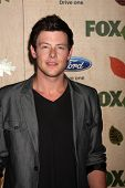 LOS ANGELES - SEP 12:  Cory Monteith arriving at the 7th Annual Fox Fall Eco-Casino Party at The Bookbindery on September 12, 2011 in Culver City, CA