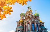 St Petersburg, Russia. Cathedral Of Our Savior On Spilled Blood In St Petersburg, Russia, Closeup Fa poster