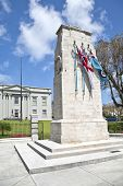 The Bermuda Cenotaph is located outside the Cabinet Building of Bermuda, In Hamilton.  The Cenotaph