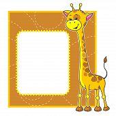 quadro com girafa
