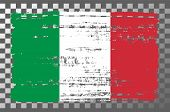 Italian National Flag Isolated Vector Illustration. Travel Map Design Graphic Element. Europe County poster