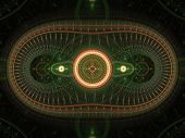Green and Orange Abstract Fractal Design