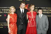 BERLIN - MAR 16: Elizabeth Banks, Liam Hemsworth, Jennifer Lawrence, Josh Hutcherson at the Hunger G