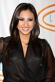 LOS ANGELES - MAY 24:  Francia Raisa arrives at the 12th Annual Lupus LA Orange Ball at Beverly Wils