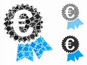 Euro Warranty Seal Composition Of Joggly Pieces In Various Sizes And Color Hues, Based On Euro Warra poster