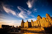 The Dramatic Liverpool Skyline in the warm evening light