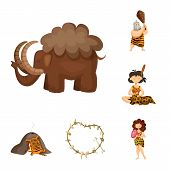 Isolated Object Of Ancient And Age Icon. Collection Of Ancient And Archeology Vector Icon For Stock. poster