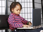 Gorgeous Kid With A Computer