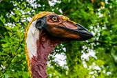 The Face Of A Fake Elephant Bird Statue, Extinct Animal Specie From Madagascar, Prehistoric Birds poster