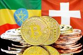 Concept For Investors In Cryptocurrency And Blockchain Technology In The Ethiopia And Switzerland. B poster