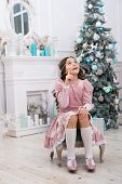 Hopeful Child. New Year Eve. Dreams Come True. Hope Concept. Dreamy Baby Christmas Wish. Making Wish poster