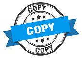 Copy Label. Copy Blue Band Sign. Copy poster