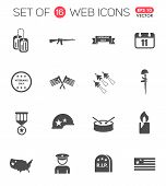 Veterans Day Icon Set. Veterans Day Web Icons For Your Project poster