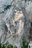 The Pagan Girl, A Stone Face Of A Maiden In Northern Side Of Prisojnik In Julian Alps, Slovenia. Mou poster