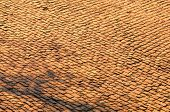 Detail At Sunset Of A Famous Crossroad On The Cobblestone Road Muur Van Geraardsbergen, Located In B poster