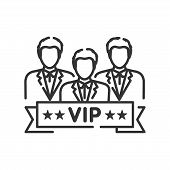 Vip Club Line Black Icon. Exclusive Membership. Sign For Web Page, Mobile App, Button, Logo. Vector  poster